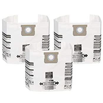 WORKSHOP Wet/Dry Vacs MULTI FIT Wet Dry Vacuum Bags VF2005 General Dirt Dust Bags for Most 10 Gallon to 14 Gallon Shop-Vac Branded Wet/Dry Vacuum Cleaners  3 Dust Collection Bags  White