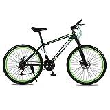 Nanxi Bicicletta,Bici Uomo,Bicicletta Mountain Bike,Versatili Mountain Bike Mountain Bike per Adulti con smorzamento della velocità a Doppio Disco per Studenti(Nero Rosso,Bianco Blu,Nero Verde)