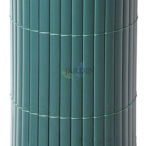 CAÑIZO de OCULTACIÓN PVC verde, unidas por hilo nylon cada 10 cm. (1 x 5 m)