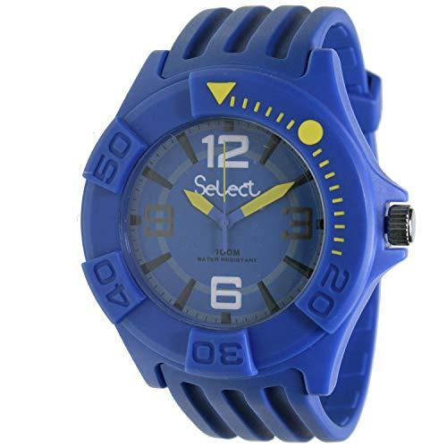 Select Tc-30-11 Reloj Analogico Unisex Caja De Resina Esfera Color Azul