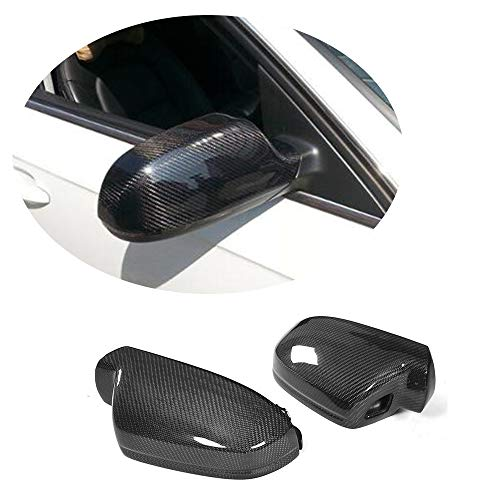 MCARCAR KIT Mirror Cover fits Audi A4 B9 Sline S4 2012-2016 A5 Sline S5 RS5 2010-2015 2Door 4Door Replacement Carbon Fiber CF Rearview Side Caps Car Exterior Outside (with Side Lane Assistant)