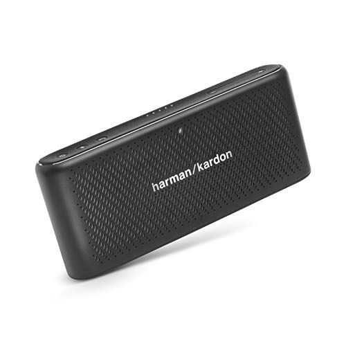 Harman Kardon HK Traveler Tragbarer Bluetooth-Lautsprecher mit Mikrofon, Schwarz schwarz