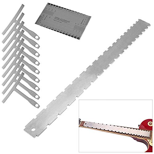 Activists Guitar Neck Notched Straight Edge Luthiers Tool with String Action Gauge and Understring Radius Gauge Guitar Repair Tools