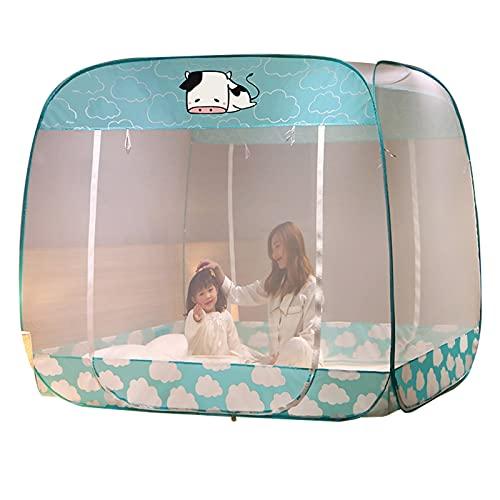 Mosquitera Tienda De Mosquitera para Acampar Al Aire Libre De Instalación Gratuita, Inicio Cama Individual/Cama Doble Mosquitera, Diseño De Prevención De Caídas para Bebés (Size : 1.5x1.95x1.7m)