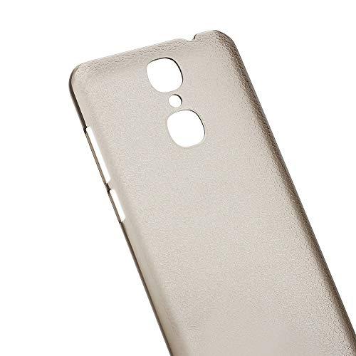 Ycloud Tasche für Cubot X18 (Vesion 2017) Hülle, Gute Qualität Strukturierter Handykasten Hartschalen-Rückabdeckung Handy case Backcover Kunststoff-Hard Shell Handyhülle Case - Grau