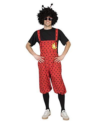 Luxuspiraten - Herren Männer Damen Kostüm Kurze Latzhose im Maikäfer Marienkäfer Stil, Bib Overall Bug, perfekt für Karneval, Fasching und...