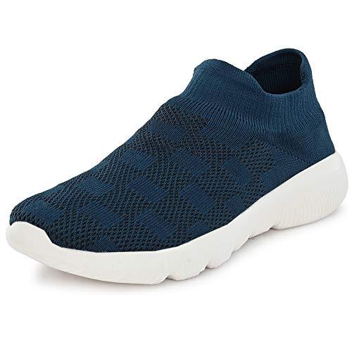 Bourge Men's Loire-165 Blue Running Shoes-10 UK (44 EU) (11 US) (Loire-165-10)