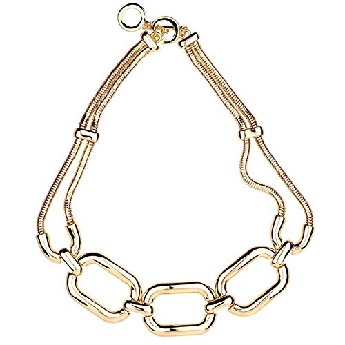 shlutesoy Ladies Pendant Necklace,Women Choker,Fashion Hip Hop Exaggerated Retro Chain Necklace Jewelry Accessory Gift Golden
