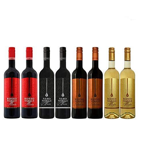 Wein Rosso Nobile all'Espresso, Rosso Cioccolata, Rosso Nocciola und Bianco Nobile (8x0,75)