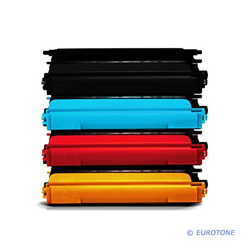 4X Eurotone Toner TN130 TN135 Set für Brother DCP 9040 9042 9045 9440 9840 / HL 4040 4050 4070 / MFC 9440 9450 9840 – Alternative ersetzt TN 130 / TN 135
