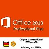 MS Office 2013 Professional 32 bit & 64 bit Vollversion Original Lizenzschlüssel per Post und E-Mail + Anleitung von TPFNet® - Versand maximal 60Min