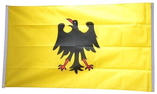 Flaggenfritze® Balkonflagge Heiliges Römisches Reich Deutscher Nation vor 1400-90 x 150 cm