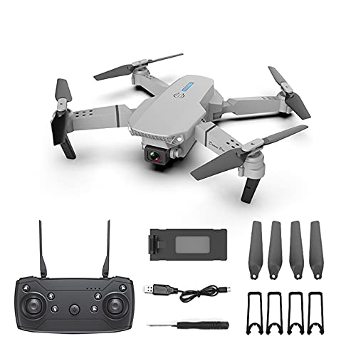 Foldable Mini Drone with 4K Dual HD Camera, RC Quadcopter for Adults and Kids, WiFi FPV Drone for Beginners Live Video HD Wide Angle RC Aircraft, Altitude Hold, Headless Mode, Trajectory Flight