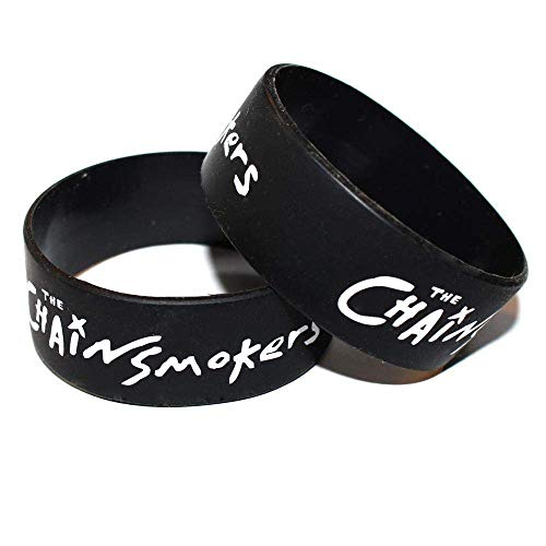 Armband,Armband Charms Männer Frauen Paar The Chain Smokers Silikon Armband Armband 4 Stück,Das Armband der Liebe