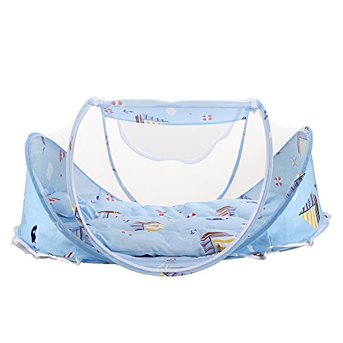Baby Travel Bed Crib Mosquito Ded Portable Baby Bed Folding Baby Mosquito Net Portable Baby Cots for 0-18 Month Baby (S1)
