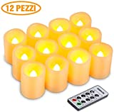 Kohree Juego de 12 Velas LED Sin Llama para Uso en...
