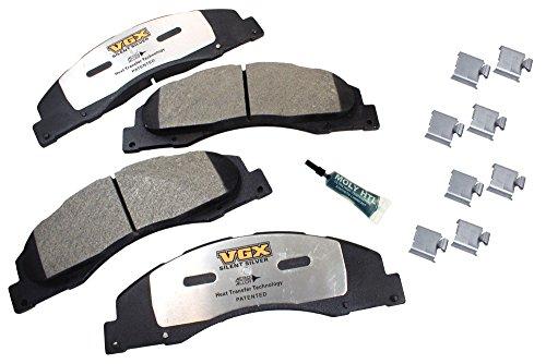 VGX Brakes MF1328K Semi-Metallic Brake Pad Set with Hardware - Front