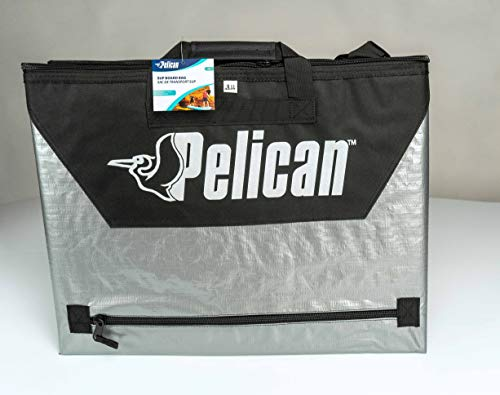 Pelican Boats - Stand-Up Paddleboard Bag - PS1458 - Deluxe Travel Carry Bag – Heavy Duty Carrier & Cover – Paddle… 3 Take your SUP wherever you go with our heavy duty polypropylene tarpaulin bag for maximum resistance – fin slot and handle openings Fin zipper to easily open your bag Secure and carry your board with a comfortable handle and shoulder strap