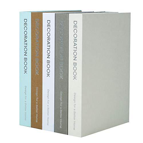 GARNECK Accesorios de Libros Falsos Decorativos de Escritorio Manualidades Accesorios de Fotos para La Decoración de La Oficina de Escritorio en Casa (Color Aleatorio)