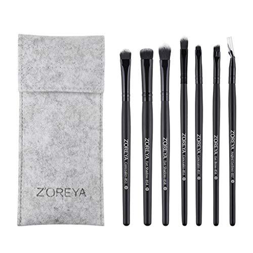 YO-HAPPY 7pcs Pinceaux de Maquillage Fard à paupières Eyeliner Brush Tool Pro Foundation Powder Set