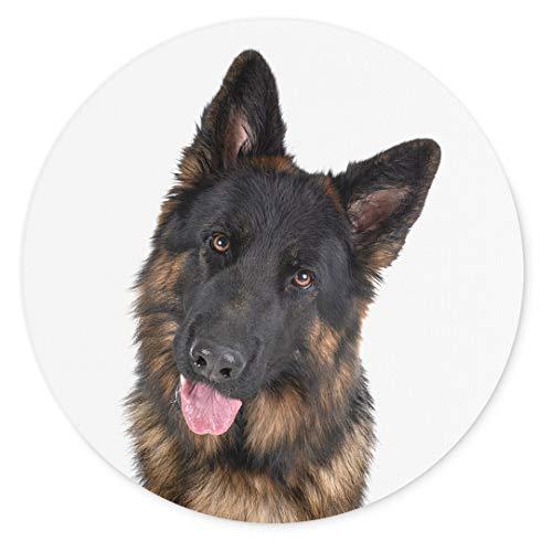 Merchandise for Fans Altdeutscher Schäferhund, Mauspad rund aus Textil 20cm, Rutschfester Kautschukrücken, für alle Maustypen