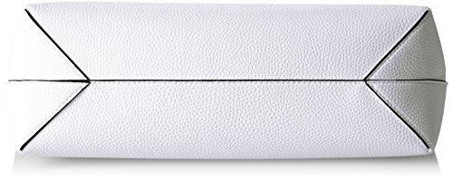 Guess HWVG6422150, Borsa a Spalla Donna, Multicolore (White Black), 12.5x27x42.5 cm