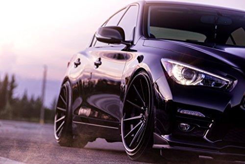 20' Inch Ferrada FR4 Matte Black/Gloss Black Lip Concave Wheels Rims | Set of 4 | Fits INFINITI G35 SEDAN
