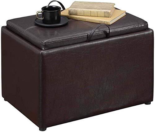 Convenience Concepts Designs4Comfort Accent Storage Ottoman, Espresso