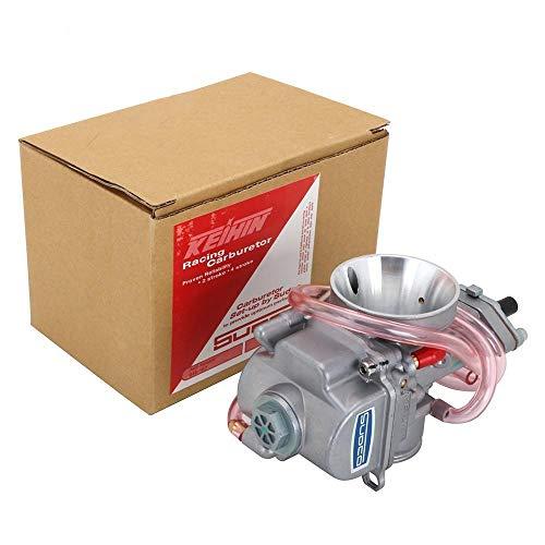 ASDFDG Accesorios de Moto Carburador Carburador Universal para PWK 28 30 32 34 mm 2T 4T con Power Jet Compatible para Suzuki 75cc-250cc Yamaha (Color : 28MM)