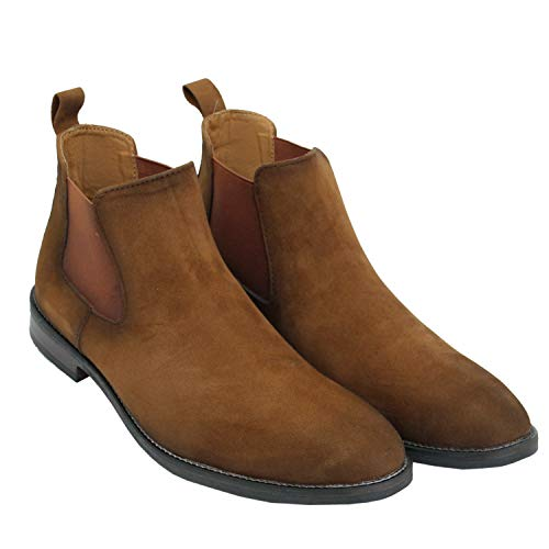 Rodox Chelsea Casual Boots for Men (Tan, Numeric_8)