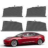 FASZFSAF Für Tesla Model 3/Model S/Model X Sonnenschutz Sonnenschutzvorhang, Anti-Ultraviolett Sonnenschutz Vorhang, Hebeschattierungsblock mit Haken,Model 3