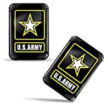 2 x 3D US Army Military Flag Domed Stickers Waterproof UV Protected Decals Car Motorcycle Helmet F 109