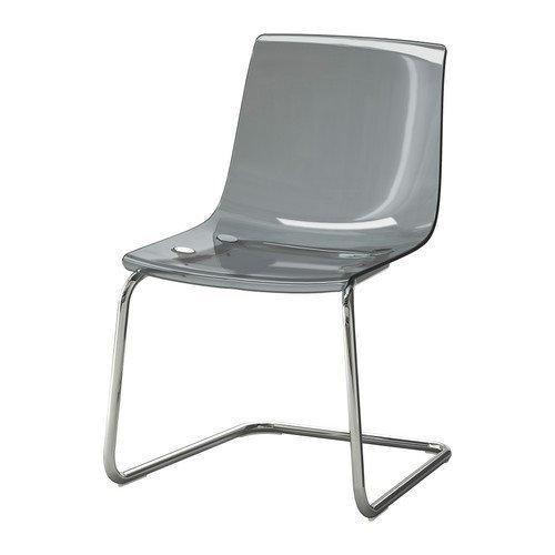 IKEA TOBIAS -Stuhl grau verchromt