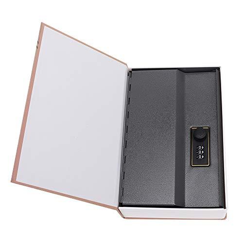 Pasamer Mini Caja de contraseña Duradera y Resistente al Desgaste, Caja de Seguridad de imitación de Libro, joyería Resistente a la corrosión por Dinero