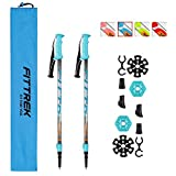 FitTrek Kids Trekking Poles - Hiking Poles - Walking Poles Telescopic - Lightweight Trekking Stick with...