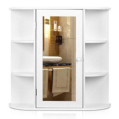 HOMFA Bathroom Wall Cabinet Multipurpose Kitchen Medicine Storage Organizer with...