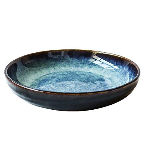 Lhl Keramik-Schüssel, italienische japanische Pasta, Müsli, Geschirr und Ofen-Glasur, Snack, Salatteller, Lebensmittel-Utensilien, 22 x 4,5 cm Aschenbecher