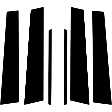 Brushed Black Rvinyl Rtrim Pillar Post Decal Trim for Cadillac CTS 2003-2007 Aluminum