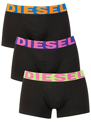Diesel Shawn Tripack Ropa Interior de Hombres, Negro, Large