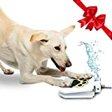 Outdoor Dog Drinking Water Fountain Step On - Upgraded 2020 Easy Paw Activated Drinking Pet Dispenser, Fresh Water, Sturdy, Easy to Use + Bonus by TrioGato