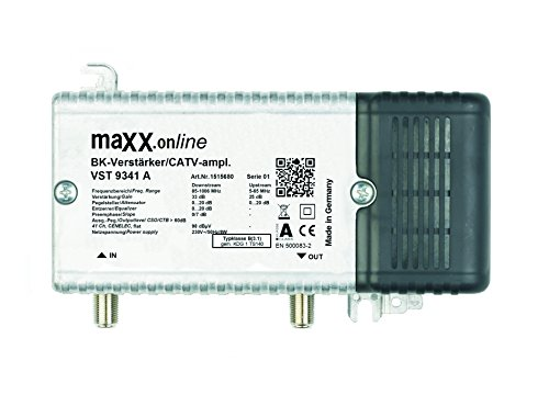 Hausanschlussverstärker VST 9341 A, 1 GHz 33 dB Verstärkung, Rückkanal, BK-Verstärker für Kabelfernsehen, DVB-C, DVB-T
