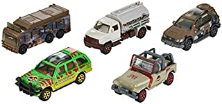 Matchbox Jurassic World Legacy Collection 5-Pack ~ Island Explorers ('97 Mercedes-Benz ML320, MBX Tanker, Ford Explorer Tour, Jeep Wrangler Staff Vehicle, Fleetwood RV Mobile Lab)