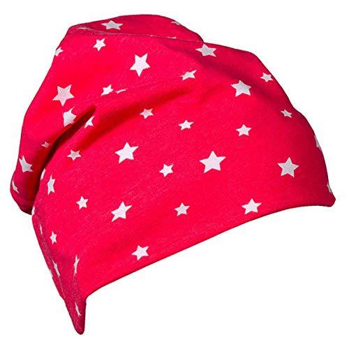 JNY Colourful Kids Bébé Fille/Garçons Bonnet Intermédiaire Beanie Différents Modèles au Choix - Stars Rouge, 44/46