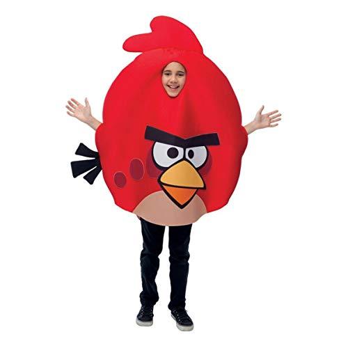 Magic Paper 212092 Rovio Angry Birds Red Bird - Costume enfant - Rouge - Standard - jusqu'- la taille 12