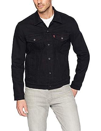 Levi's Trucker Jacket Chaqueta de Jean, Larimar/Black/Stretch, M para Hombre