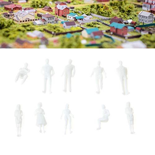 JERKKY 1:50 Modelos a Escala Figuras Blancas en Miniatura Modelo Humano Modelo arquitect/ónico 10 Piezas Modelado Aleatorio de Figuras