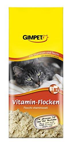 GIMPET Vitamin-Flocken - Futtertopping mit Taurin und Vitaminen beugt Mangelerscheinungen bei Katzen vor - 1 Packung (1 x 200 g)