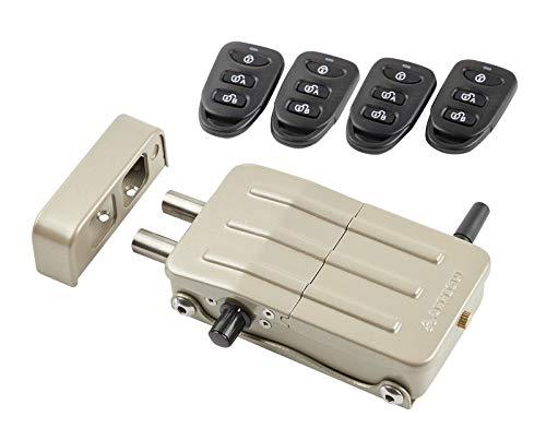 Arregui CI10D Cerradura de Seguridad Invisible para Puerta con 4 mandos, antirrobo, anti okupas, Dorado
