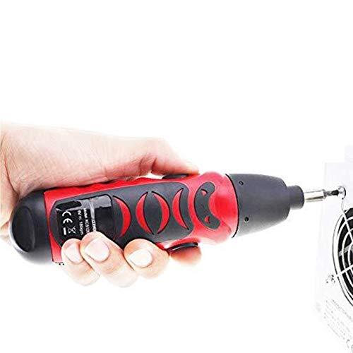 Bluetooth earphone 2.5n.m Destornillador Multifuncional inalámbrico Mini Herramientas de Hardware de Taladro eléctrico para el hogar para la renovación del hogar DIY Proyecto (Color : Red)