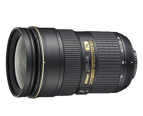 Nikon Obiettivo Nikkor AF-S 24-70 mm f/2.8G ED, Nero [Nital Card:...